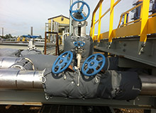 Multiple Gate Valves, glycol tracing